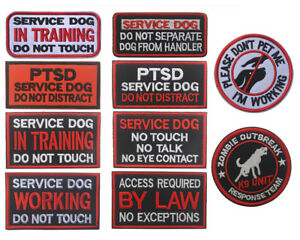 Therapy Dog Embroidered Badge Patch