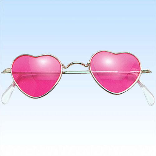 Brille in Herzform rosa Gläser Komplettbrille Unisex Liebe Liebesbrille
