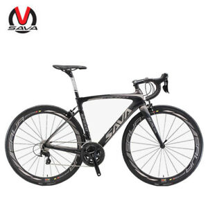 SAVA-HERD-New-6-0-700C-Carbon-Fiber-Road-Bike-Shimano-5800-22-Speed-Black-Grey