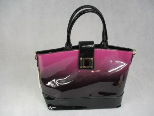 New LeeSun Ladies Black /& Fading Colour Handbags with Shoulder Strap PVC Finish