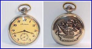 Russian pocket watch Molnija USSR 1980's ~The Perfect Gift #122204