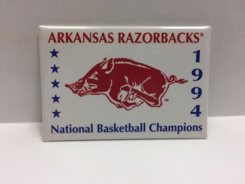 1994 COLLEGE BASKETBALL NATIONAL CHAMPIONS ARKANSAS RAZORBACKS BUTTON NEW