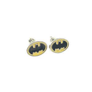 New-DC-Comics-Superhero-Super-Hero-Batman-Logo-Earrings-W-Gift-Box