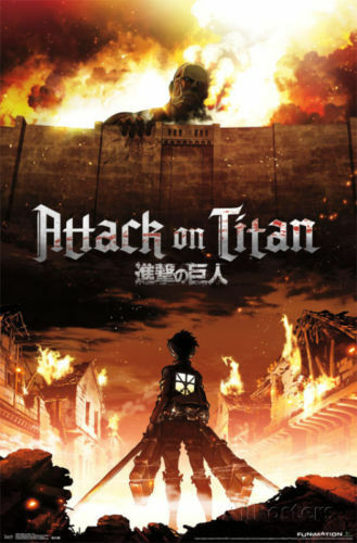 FUNIMATION ANIME ATTACK ON TITAN CHIBI CHARACTERS POSTER 22X34 FREE SHIPPING