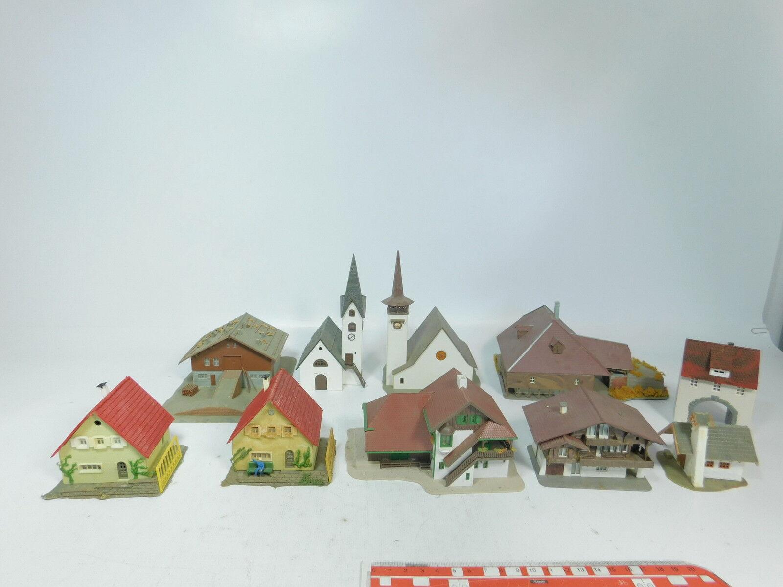 AZ779-2x Faller Kibri Vollmer etc Spur N Modell  Kirche+Kapelle+Bauernhof+ .