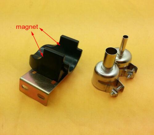 Magnet control 857 857D Hot air gun handle bracket Stand 2 Nozzle for QUICK