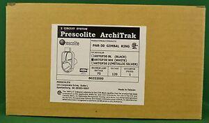NEW-Prescolite-Architrak-Par-30-Gimbal-Ring-AKTGP30-WH-White