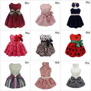 Fitwarm-Princess-Winter-Dog-Dress-Party-Pet-Clothes-Xmas-Apparel-Pink-Red-Coat