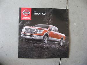 2016 16 nissan titan xd dealer sales brochure manual book catalog ebay rh ebay co uk 2008 Nissan Titan 2008 Nissan Titan