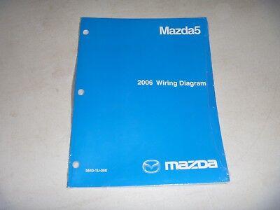 2006 Mazda 5 Mazda5 Minivan Electrical Wiring Diagram Manual Sport Touring  NEW   eBayeBay