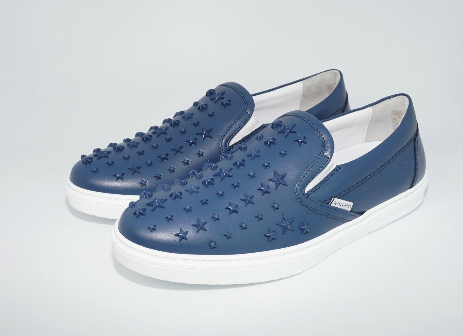 Jimmy Choo Men's Grove Star Embellished Sport Leather Slip-On scarpe da ginnastica, MSRP  795