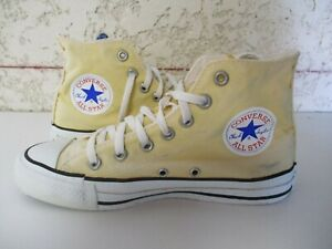 Détails sur CONVERSE ALL STAR made in USA toile jaune vintage pointure 38 (US 5,5 5 12)