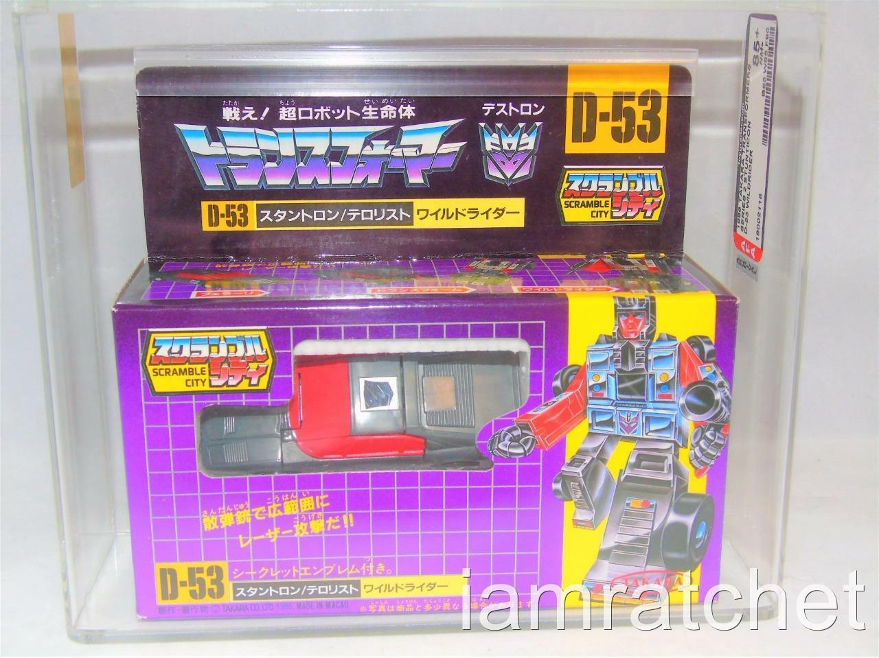Transformers G1 Original autoridad Figura de Acción 85+ Takara D-53 Stunticon Wildrider Menta en caja sellada 85 85 90