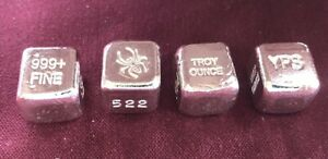 1-oz-Hand-Poured-999-Silver-Bullion-Bar-034-Spider-Cube-034-by-YPS
