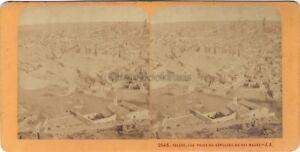 Spagna Toledo Panorama Foto J.Andrieu Stereo Vintage Albumina Ca 1870