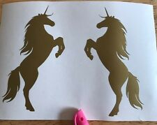 X2 Unicorn Horse Girls Vinyl Decal Car Sticker Fantasy Magical Window