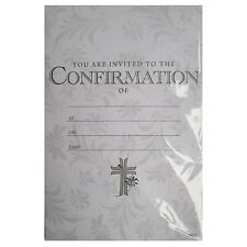 confirmation invitations x20 holy bible and cross theme ebay