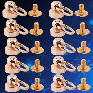 10-Rivet-Studs-Screw-Back-Round-Head-O-Ring-Spiles-Leathercraft-Brass-Punk-Spots
