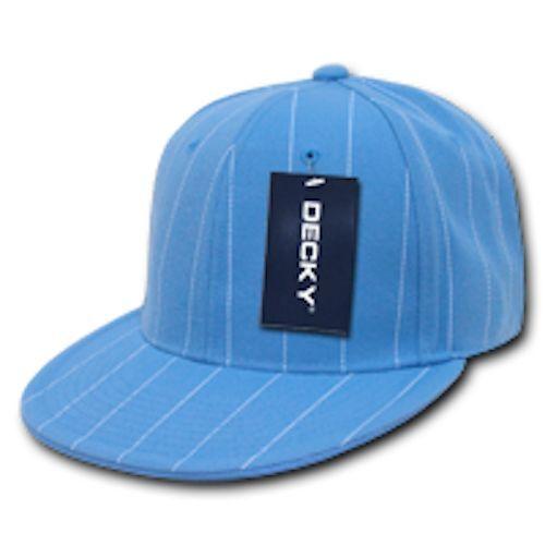Pin Stripe Pin Striped Pinstriped Fitted Flat Bill Baseball Hats Caps Decky