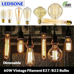 Dimmable-E27-E14-B22-60W-Edison-Vintage-Filament-Candle-Globe-Light-Lamp-Bulbs