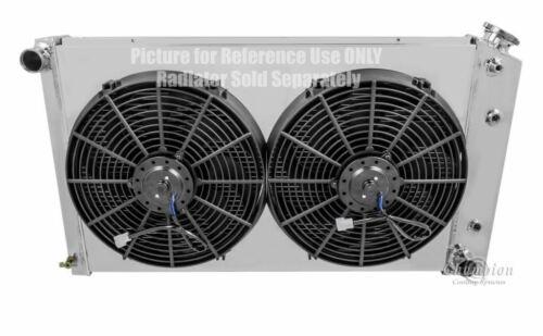 "Chevy Blazer Custom Aluminum Radiator Fan Shroud /& 2-14/"" Fans 17/""H x 28 1//4/""W"