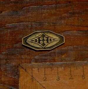 Zierelement-Messing-Praegestempel-Ornament-Buchbinden-Praegen-Schnoerkel-Art-Deco