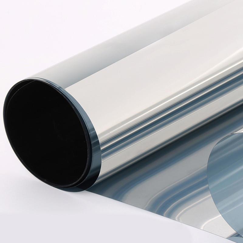 Silber Solar Reflektierend Eine Weg Spiegel Fenster 15/% VLT Film Privatsphäre