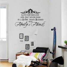 Family and Friend  Removable Art Quote Wall Decal  Room Stickers Vinyl Decor