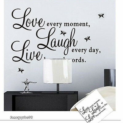 Natural Style Love Every Moment Laugh Live Wall Sticker Decals Mural  Decor B09