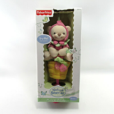 Fisher Price Nature Berries Musical Pulldown Plush Stuffed Toy Lullaby New Box