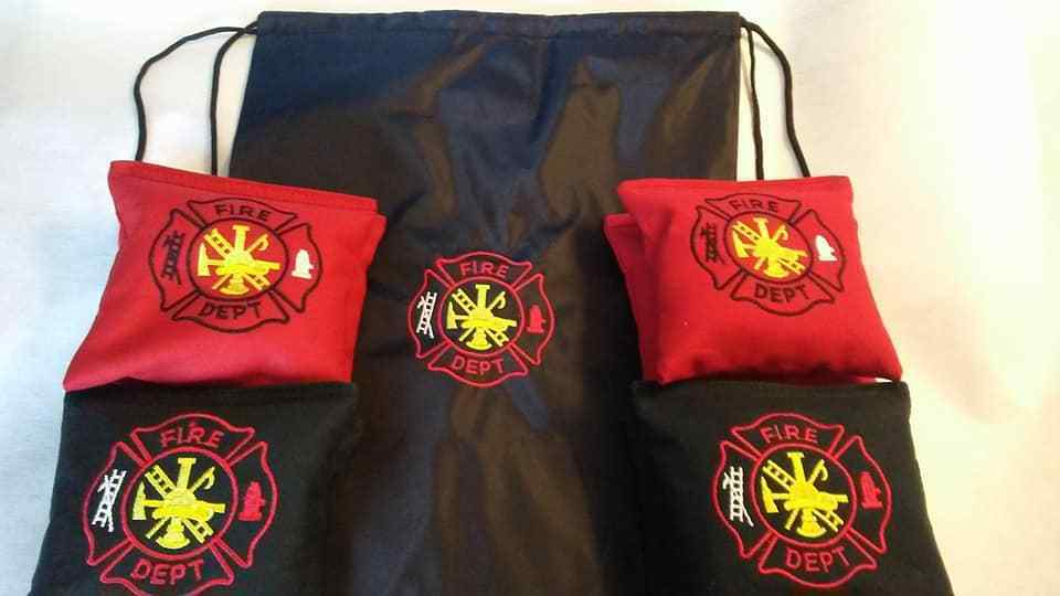 Fire Dept Cornhole Bags Fire Fighter corn hole bags regulation made with bag