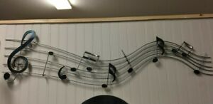 NEW-LONG-METAL-MUSICAL-NOTES-MUSIC-SCALE-WALL-ART-DECOR
