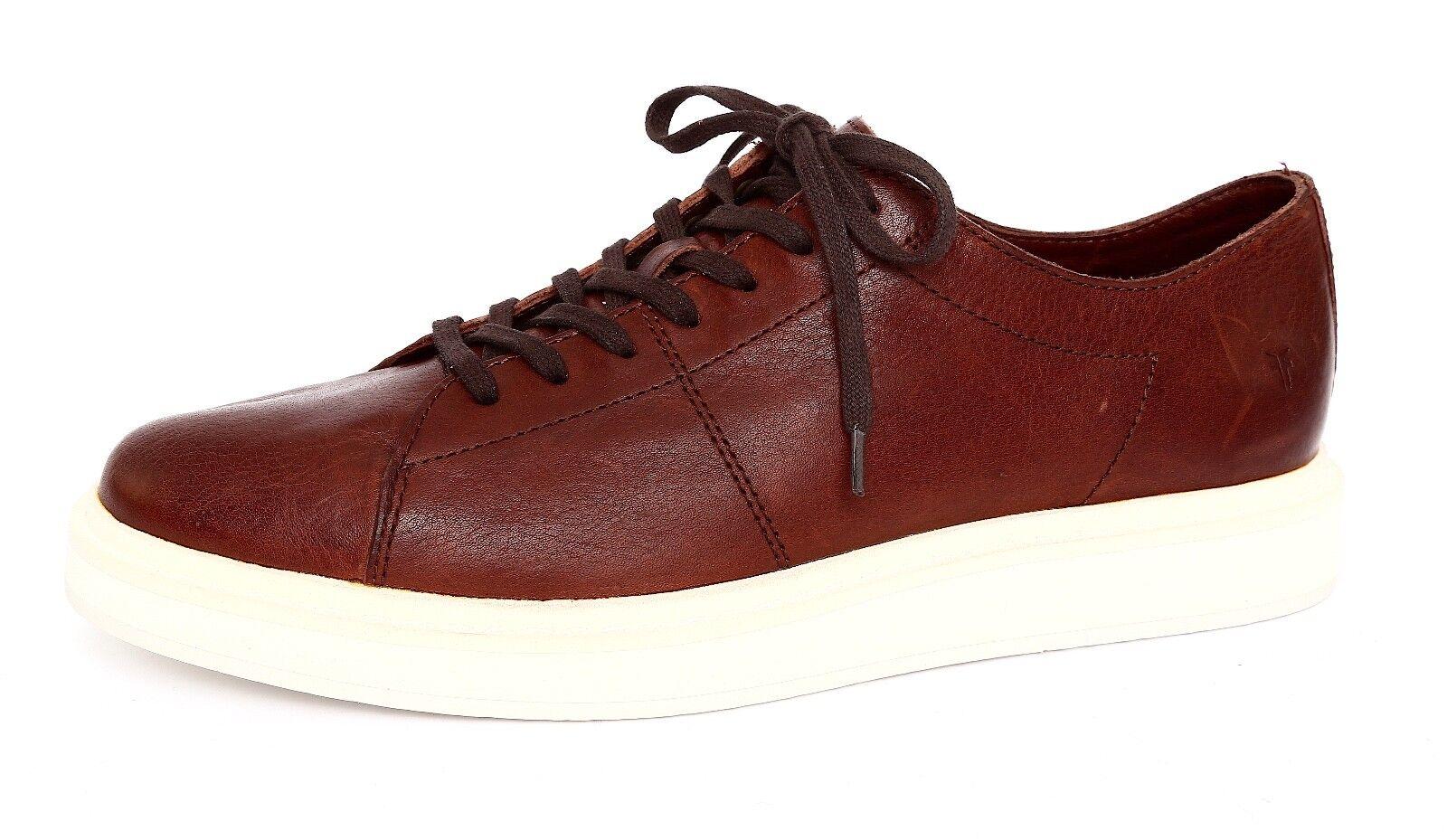 Frye Men's Brown Leather Mercer Low Lace Sneaker Sz 10 5026