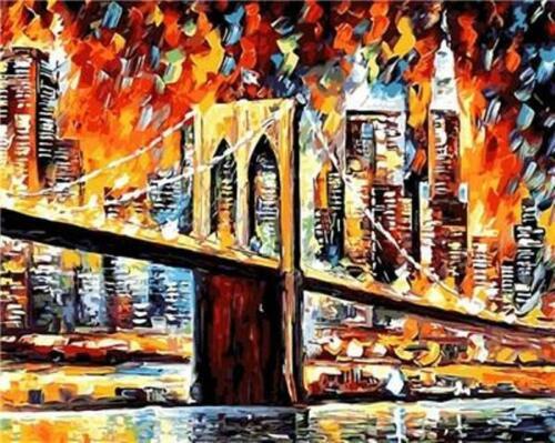 Van-Go Paint-By-Number Kit New York Brooklyn Bridge