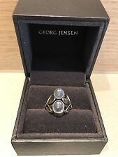 Georg Jensen Ring 48 Sterling Silver With Moonstones RRP £680