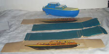 Vintage Post WWII GDR Germany Hard Plastic Cabin Cruiser Boat with Box Panels