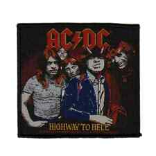 AC/DC Woven Patch HIGHWAY TO HELL Aufnäher ♫ Heavy Metal ♪ Rock and Roll ♫ ACDC