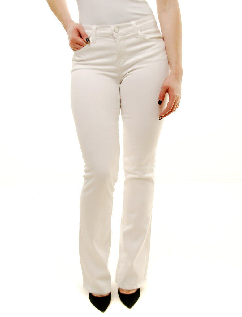 J BRAND Damen Schmal Stiefel 818O222 Jeans Entspannt Snow Weiß Größe 30W