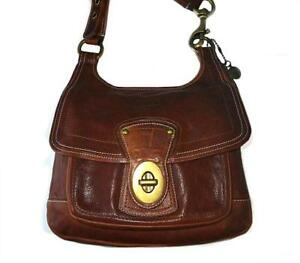 6e993825a9 Image is loading Coach-65th-Anniversary-Legacy-Leather-WALNUT-Hippie- Crossbody-
