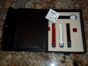 Wenger-Swiss-Military-Womens-watch-BOXED-gift-SET-white-face-4-straps-included