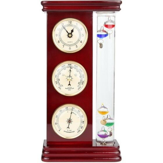 Galileo Weather Station W Thermometer Precision Qtz Clock Barometer Hygrometer For Online