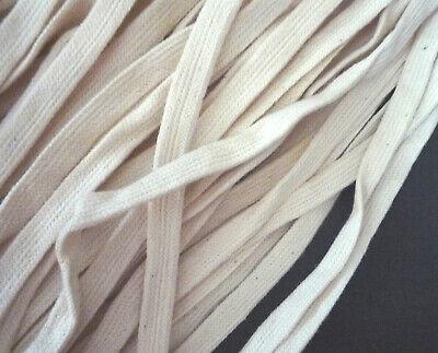 "10-100yd Black Cotton Tape Flat Tube Tape w//o center string 3//8/"" 10mm width CC13"