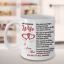 To My Wife Coffee Mug From Husband Gifts For Wife Romantic Poem I Love You Heart