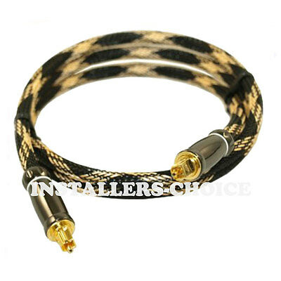 2 x 3FT Premium Toslink Digital Optical Audio Cable S/PDIF Gold Plated DOLBY DTS