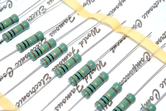 Non-RoHS NOS 2pcs PHILIPS MR52 3.9K 3K9 1W 1/% 500V Metal Film Resistor