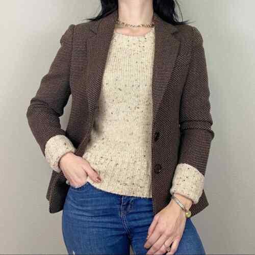max mara size US 4 virgin wool cashmere stitched b