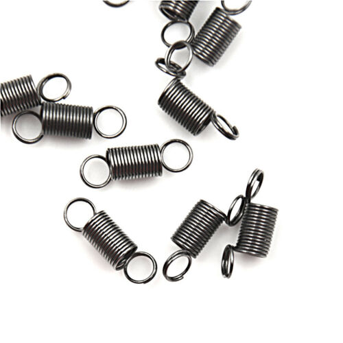 10PCS 15mm Stainless Steel small Tension Spring With Hook For Tensile DIY.
