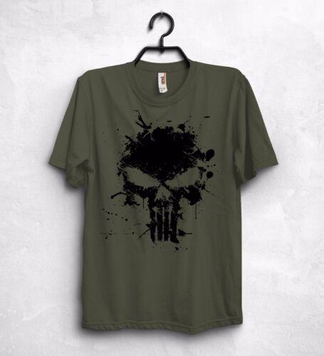 Punisher T Shirt Gym Lobo Skull Training Deadpool Superman Spiderman Hulk