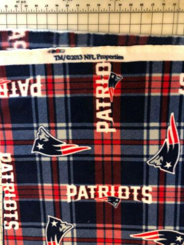 New England Patriots NFL Football BLANKET FLEECE Fabric by Yard or 1//2 Yard