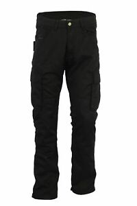 Black-Tab-Motorcycle-Smart-Black-CARGO-Jeans-reinforced-with-DuPont-KEVLAR-Fiber